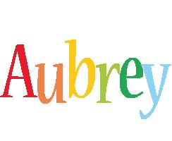 Aubrey birthday logo
