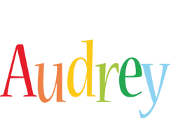 Audrey birthday logo