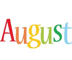 August birthday logo