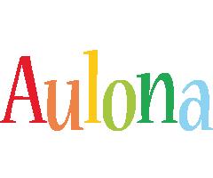 Aulona birthday logo