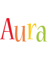Aura birthday logo