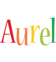 Aurel birthday logo