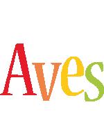 Aves birthday logo