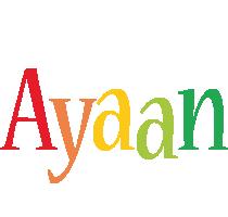 Ayaan birthday logo