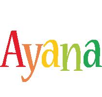Ayana birthday logo