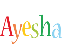Ayesha birthday logo