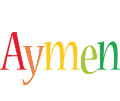 Aymen birthday logo