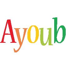 Ayoub birthday logo
