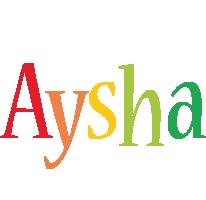 Aysha birthday logo