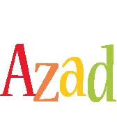 Azad birthday logo
