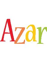 Azar birthday logo