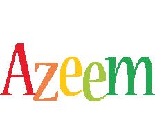 Azeem birthday logo