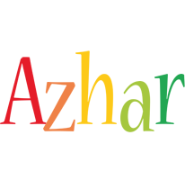 Azhar birthday logo