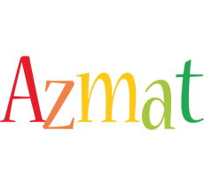 Azmat birthday logo