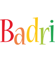Badri birthday logo