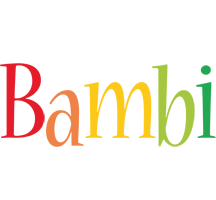 Bambi birthday logo