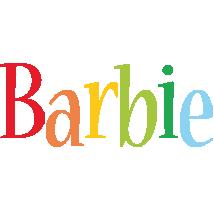 Barbie birthday logo