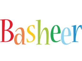 Basheer birthday logo