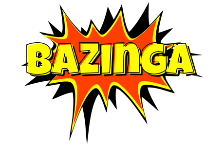 BAZINGA logo effect. Colorful text effects in various flavors. Customize your own text here: http://www.textGiraffe.com/logos/bazinga/