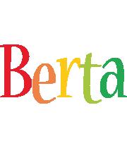 Berta birthday logo