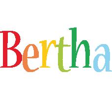 Bertha birthday logo