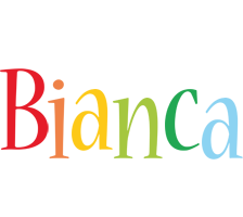 Bianca birthday logo