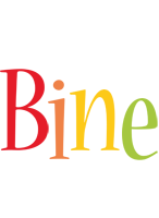 Bine birthday logo
