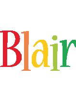 Blair birthday logo