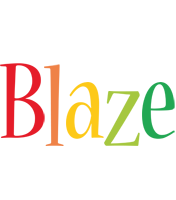 Blaze birthday logo