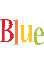 Blue birthday logo