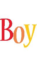 Boy birthday logo