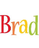 Brad birthday logo
