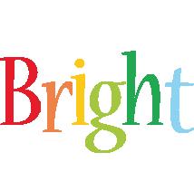 Bright birthday logo