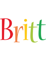 Britt birthday logo