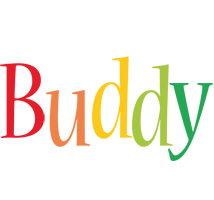 Buddy birthday logo