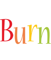 Burn birthday logo