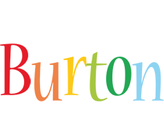 Burton birthday logo