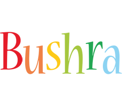 Bushra birthday logo