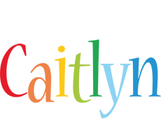 Caitlyn birthday logo