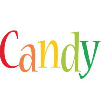 Candy birthday logo