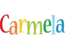 Carmela birthday logo