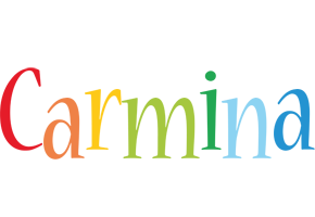 Carmina birthday logo