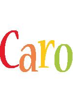 Caro birthday logo