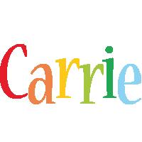 Carrie birthday logo