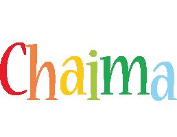 Chaima birthday logo