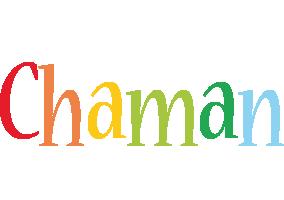 Chaman birthday logo