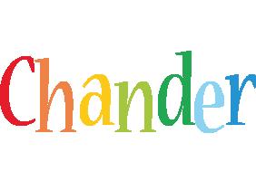 Chander birthday logo