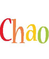 Chao birthday logo