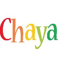 Chaya birthday logo