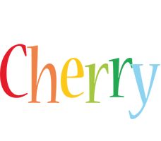 Cherry birthday logo